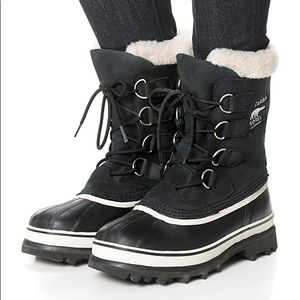Sorel Caribou Black Waterproof Winter Boots